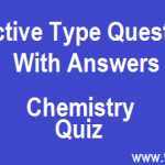 Chemistry Quiz | Objective type questions