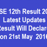CBSE 12th Result 2016 Latest Update Result to be Declared @cbseresults.nic.in