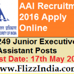 Airport Authority of India Recruitment 2016   Manager and Junior Executive Apply Online