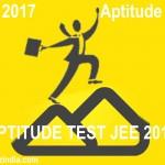 JEE 2017 Aptitude Test Free Online Aptitude Quiz