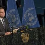 Lionardo DiCaprio Speaks About Climate Change at UN Headquarters