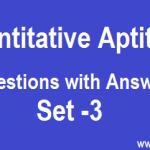 Quantitative Aptitude for Competitive Exams Quiz 3
