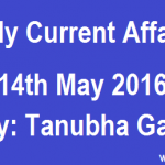 Current Affairs 14th May 2016 Daily Current Affairs