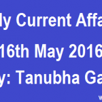 Current Affairs 16th May 2016 Daily GK Updates