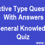 General Awareness Objective type Questions