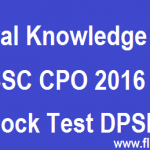 SSC CPO Mock Test 2017 DPSI Free Mock Test Online